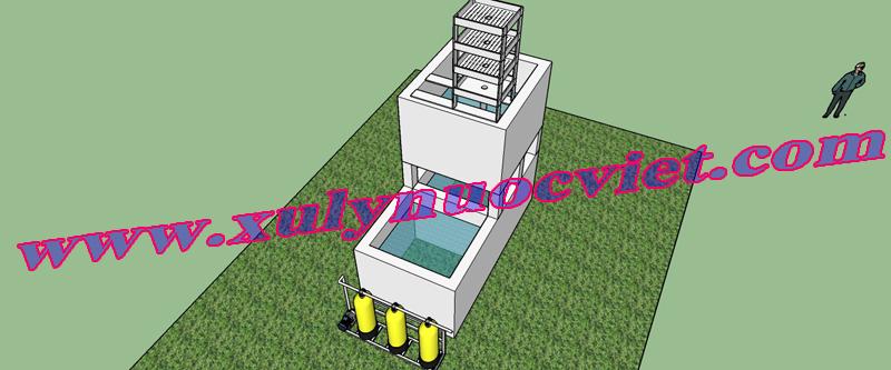 Bể xử lý nước giêng 3 D