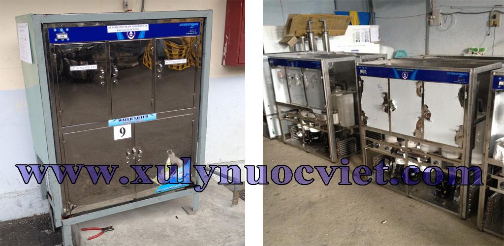 Máy nước uống nóng lạnh 6 vòi lắp cho công ty tại KCN