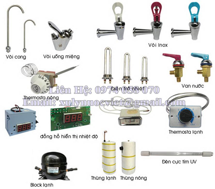 Các thiết bị cấu tạo nên máy nước uống nóng lạnh