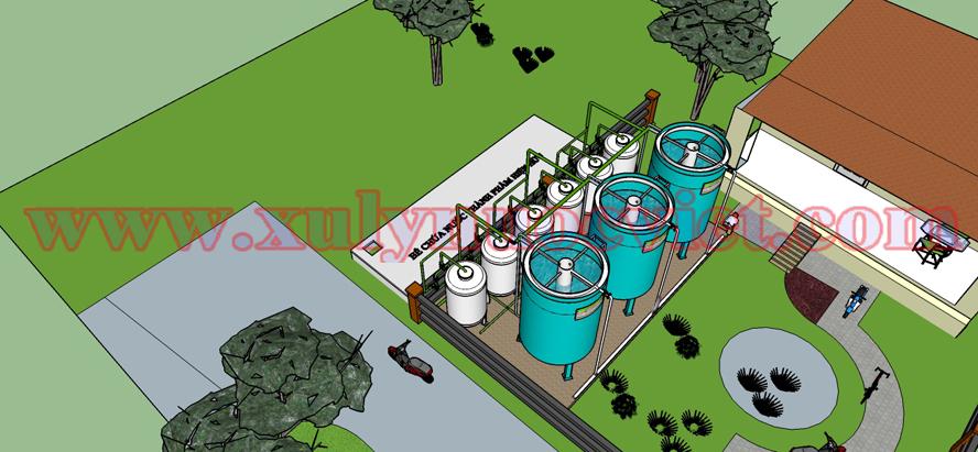 Hệ thống xử lý được chọn công nghệ mới kết hợp với công nghệ xử lý nước truyền thống