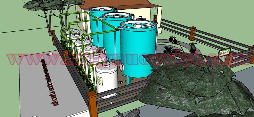 Nhà điều hành cần xây dựng liền kề với hệ thống xử lý nước