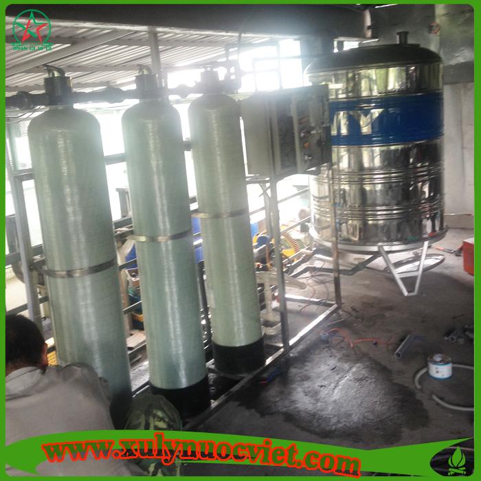 Lắp đặt hệ thống xử lý nước RO tinh khiết cho công nhân uống
