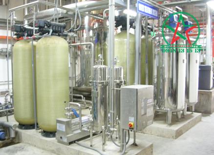 hệ thống xử lý nước dùng Cột lọc composite để thi công